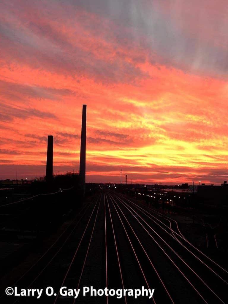 Beautiful sunset tonight in Birmingham