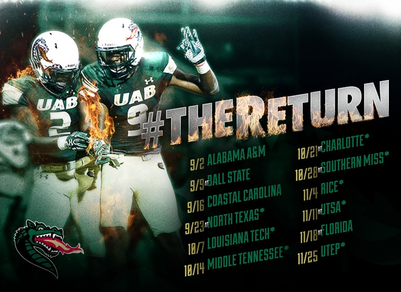 Check Out UAB's Football Schedule for the New Season