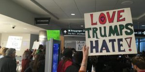 Birmingham, Protest, Airport, Trump Immigration