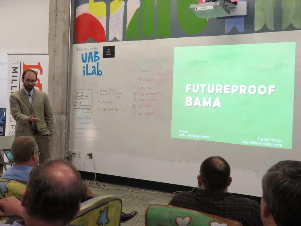 """1MillionCups Bham Presentation – """"FutureProof Bama"""""""