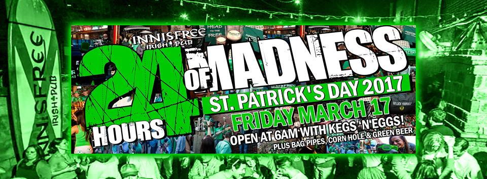 Innisfree Irish Pub Birmingham Alabama 24 Hours of Madness St. Patrick's Day 2017
