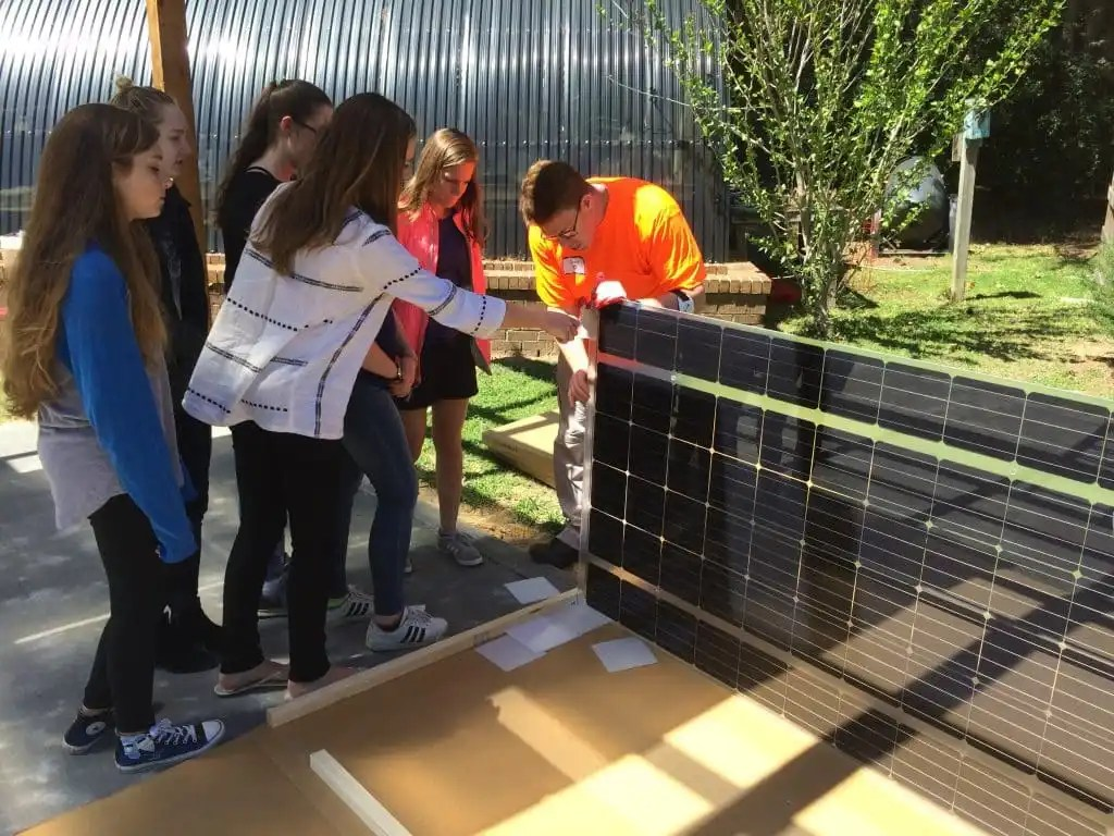"""A """"pretty cool"""" legacy – Highlands School students design solar powered outdoor classroom"""