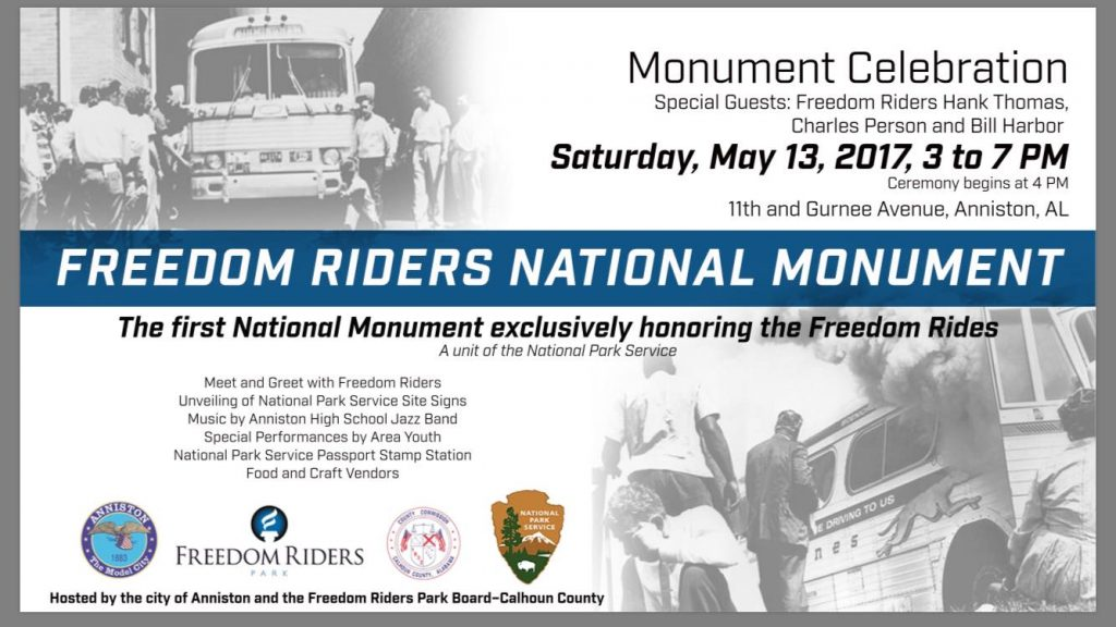 "Freedom Riders Park supporters to hold ""monumental"" celebration on May 13th in Anniston"