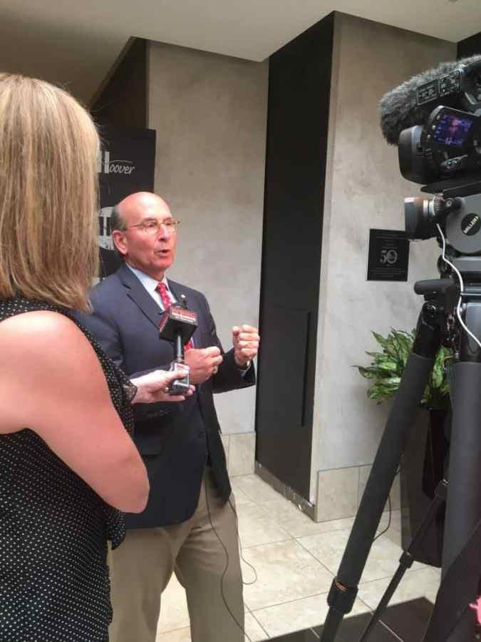 Hoover Mayor Frank Brocato buries Time Capsule