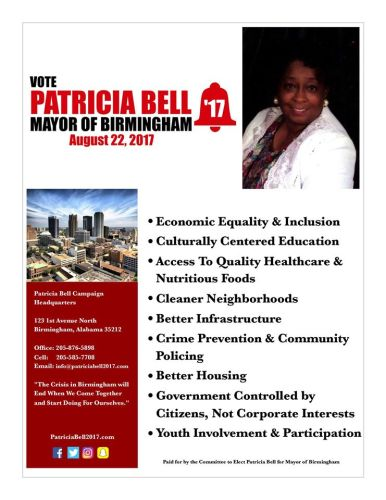 Patricia Bell running for Birmingham Alabama mayor