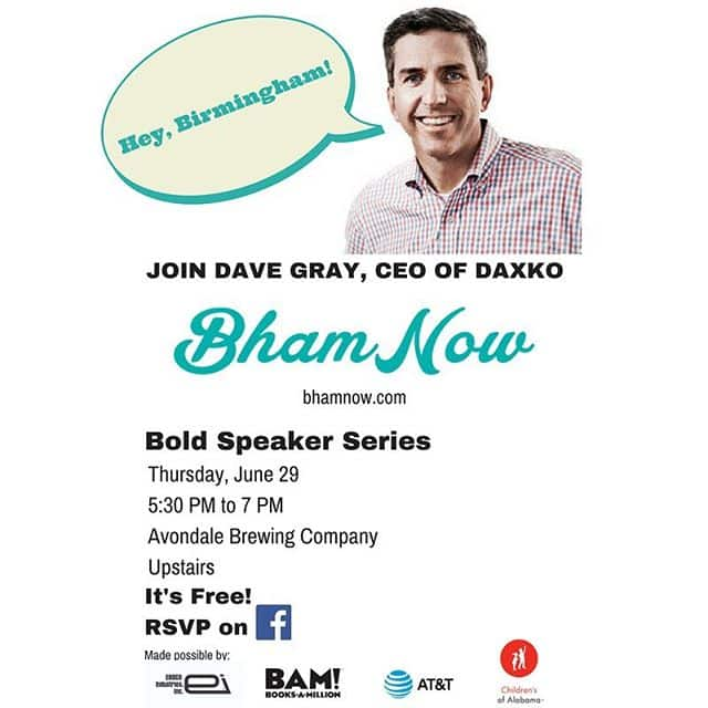 Instagram:Heyo! @daxkodave joins #bhamnow for a night full of #community #beer (@avondalebrewing) and #motivation
