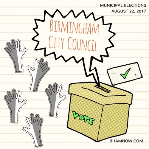 Birmingham Alabama City Council 2017 Election Vote