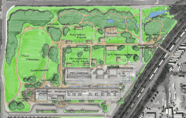 Image may include: GBHS, park, masterplan