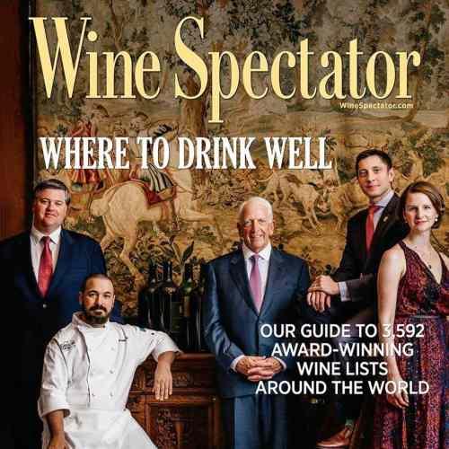 Wine Spectator award Galley & Garden