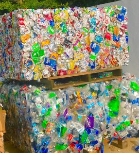 Image of recyclables at AEC