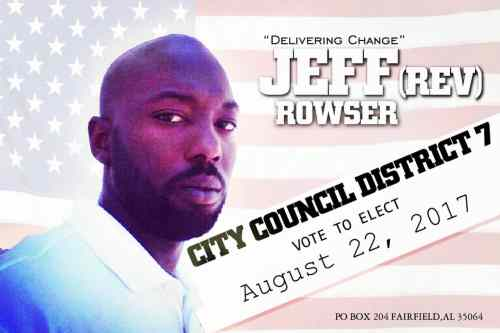 Jeffrey Rowser, Birmingham, City Council, Alabama, election, voting, municipal, vote, mayor