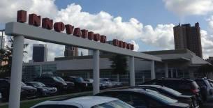Innovation Depot sign in Birmingham
