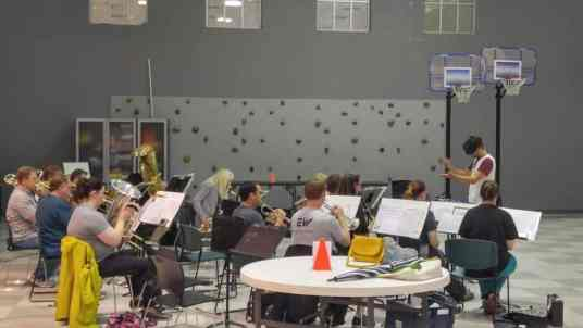 Crestwood Community Band rehearsal