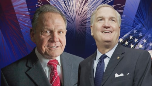 Roy Moore, Luther Strange, Senate, Senator, election, runoff, primary, vote, voting, Republican