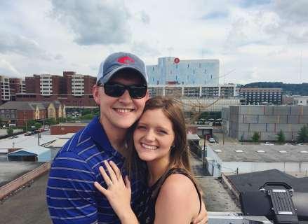 Hannah Acton and Logan Whitehead engaged