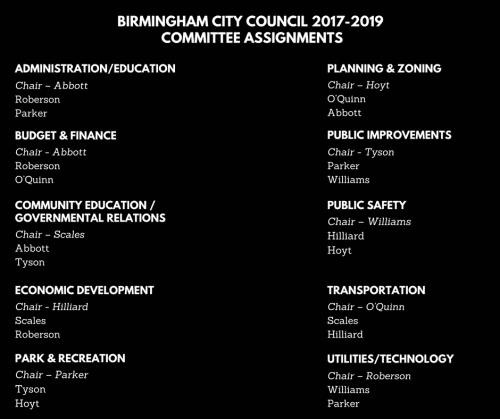 Birmingham City Council, Alabama