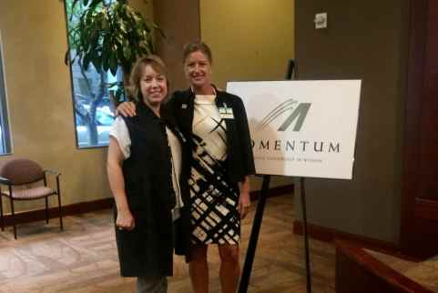April Benetollo and Katherine Thrower at a Momentum event
