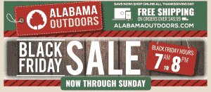 Alabama Outdoors Black Friday Sale