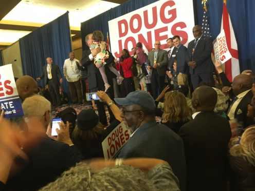 Doug Jones, Birmingham, Alabama, victory, party