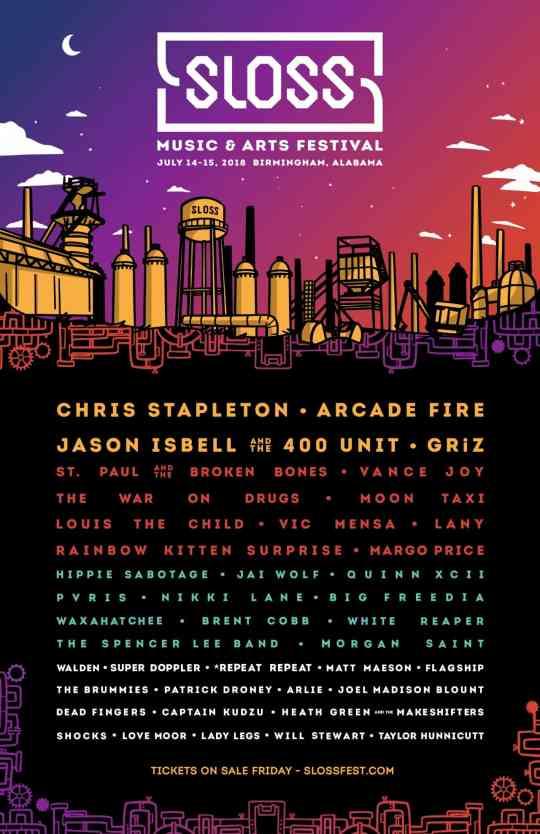 Sloss Fest 2018 lineup Birmingham AL