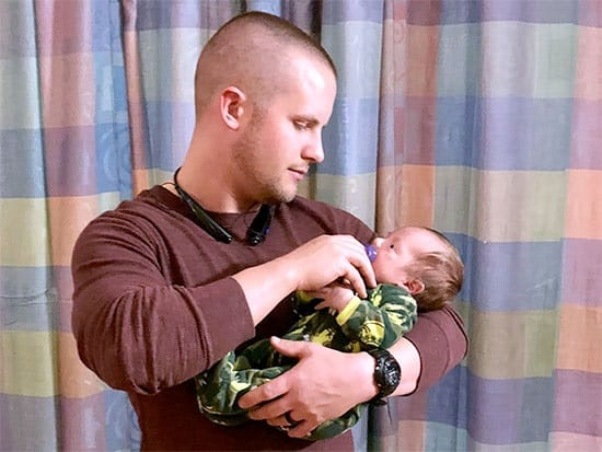 Soldier father meets newborn son in NICU after 7600 miles, 30 hours of travel