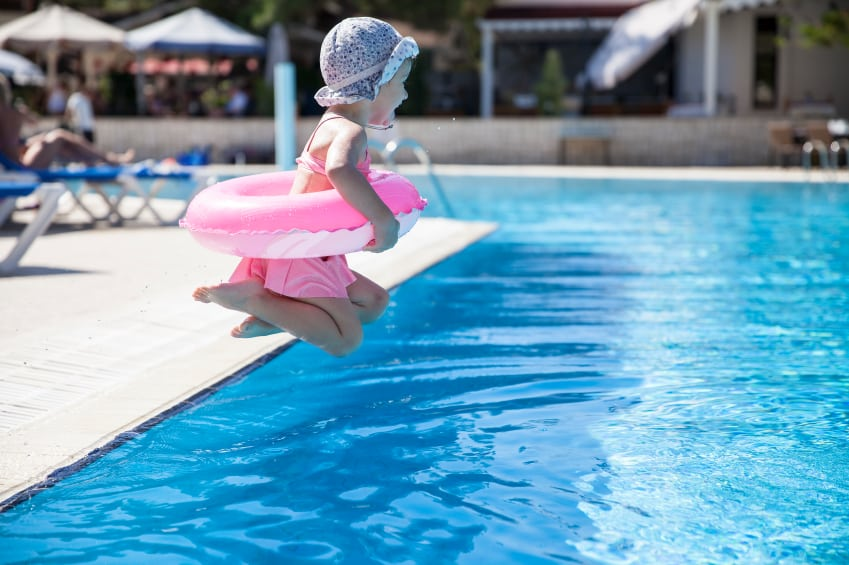 pool swimming jump