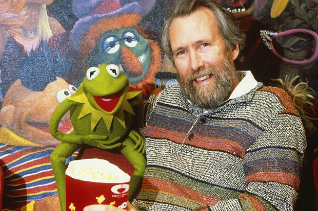 Jim Henson and muppet Kermit the Frog