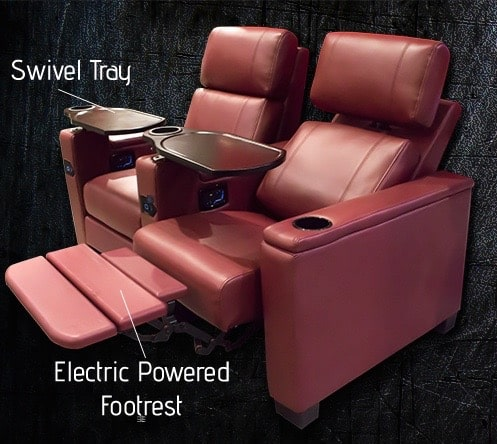 Birmingham, Alabama, reclining theater chair, luxury movie theater