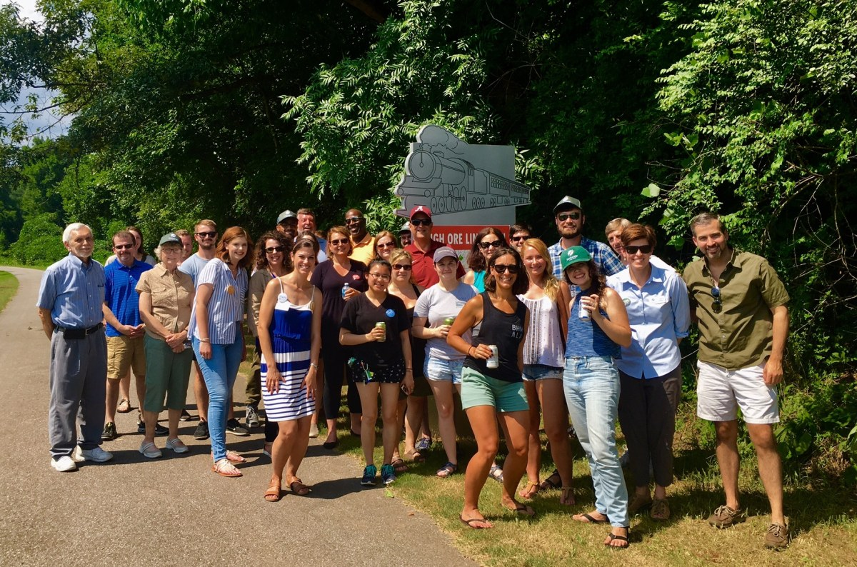 Freshwater Land Trust 'Too Hot to Hike' tour explored three trails last Saturday, including the High Ore Line Trail