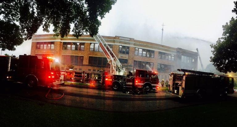 Ensley High School fire