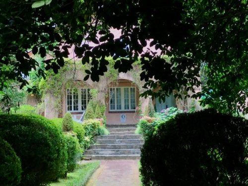 Birmingham, Alabama, pink house and secret garden in Homewood
