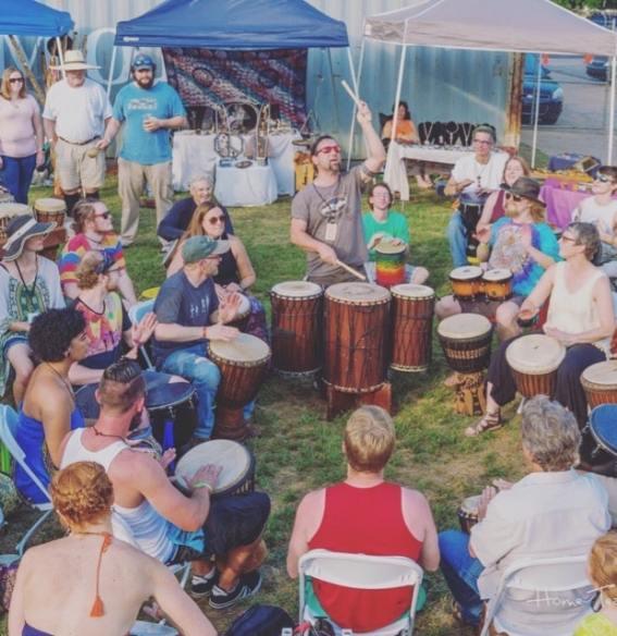 Birmingham, drum circles in Birmingham, Community Drum Jam with John Scalici