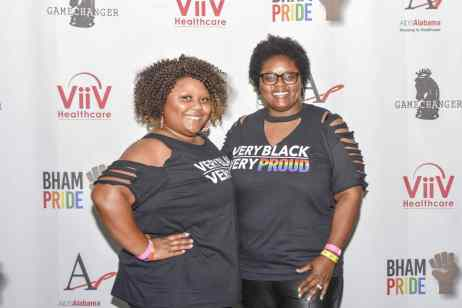 Amy Robinson and Rhonda Lee at the Opening Banquet for Bham Black Pride. Photo Courtesy via Tony Walker