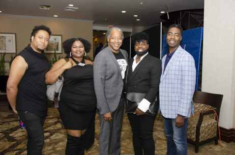 Reunion of the Former staff of UAB's Birmingham 601 Project. (Pictured l-r): Travonte Moten, Anthony Williams, Patrick Packer, Lashun Calhoun, Rodney Green. Photo Courtesy via Tony Walker