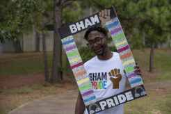 Derrick Steverson in Bessie Estelle Park at Bham Black Pride Picnic. Photo Courtesy via Tony Walker