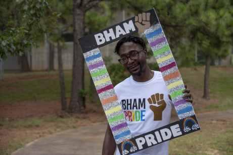 Derrick Steverson in Bessie Estelle Park at Bham Black Pride Picnic. Photo Courtesy via Tony Walker