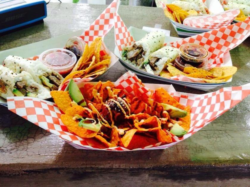 Birmingham, Alabama, Wasabi Juan's, 4:20 Nachos, sushi burrito