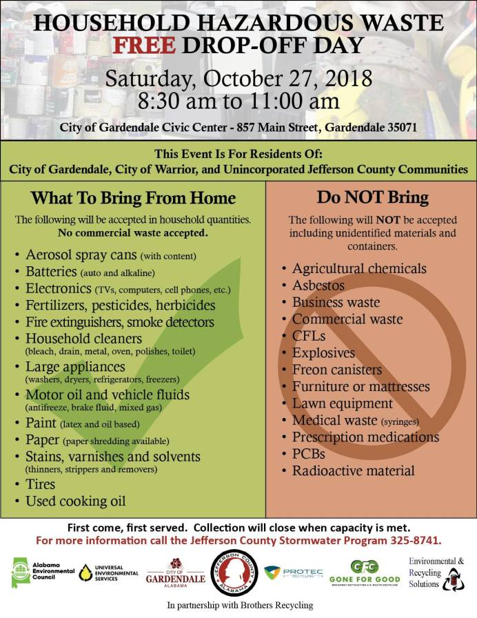 Don't miss the Birmingham Fall City-wide Cleanup and Jefferson