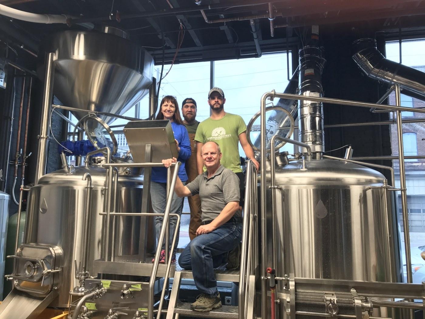 Alabama, Birmingham District Brewing Co. Cheri Kueven, Cale Sellers, James Sumpter, Brad Kueven, The Battery