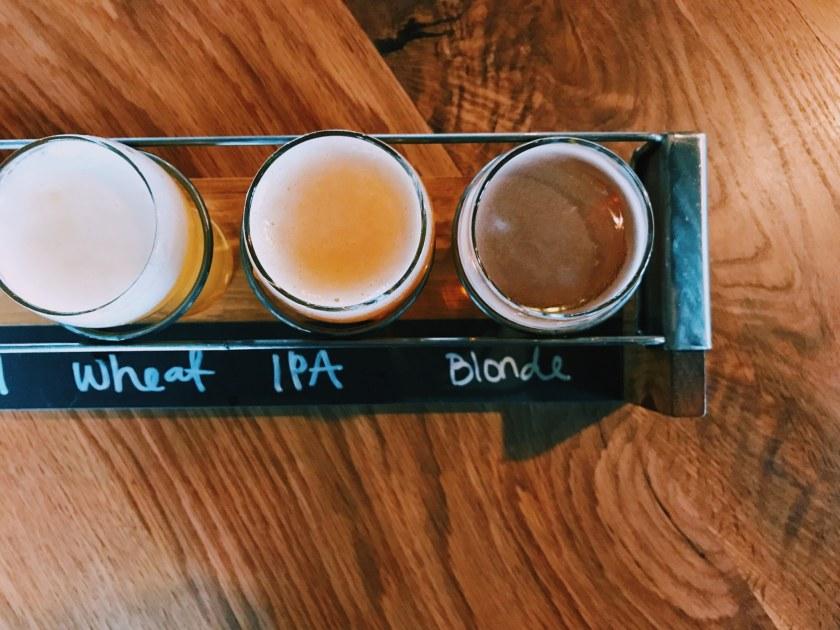 Birmingham, Alabama, Birmingham District Brewing Co., beer flight