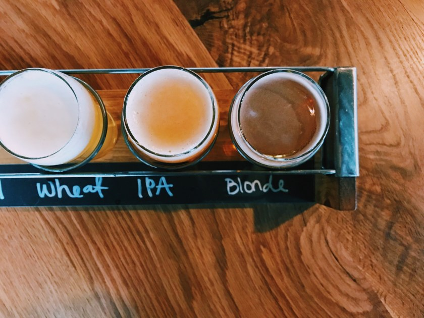 Birmingham, Alabama, Birmingham District Brewing Co., beer flight