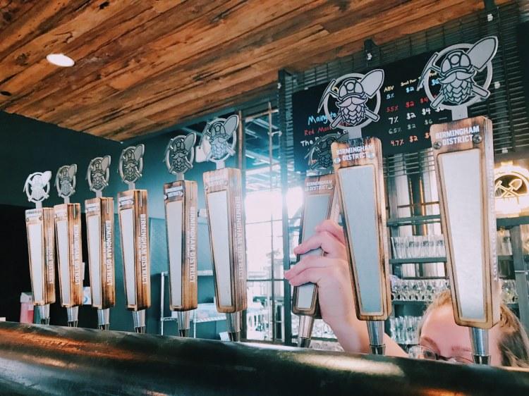 Birmingham, Alabama, Birmingham District Brewing Co., beer taps