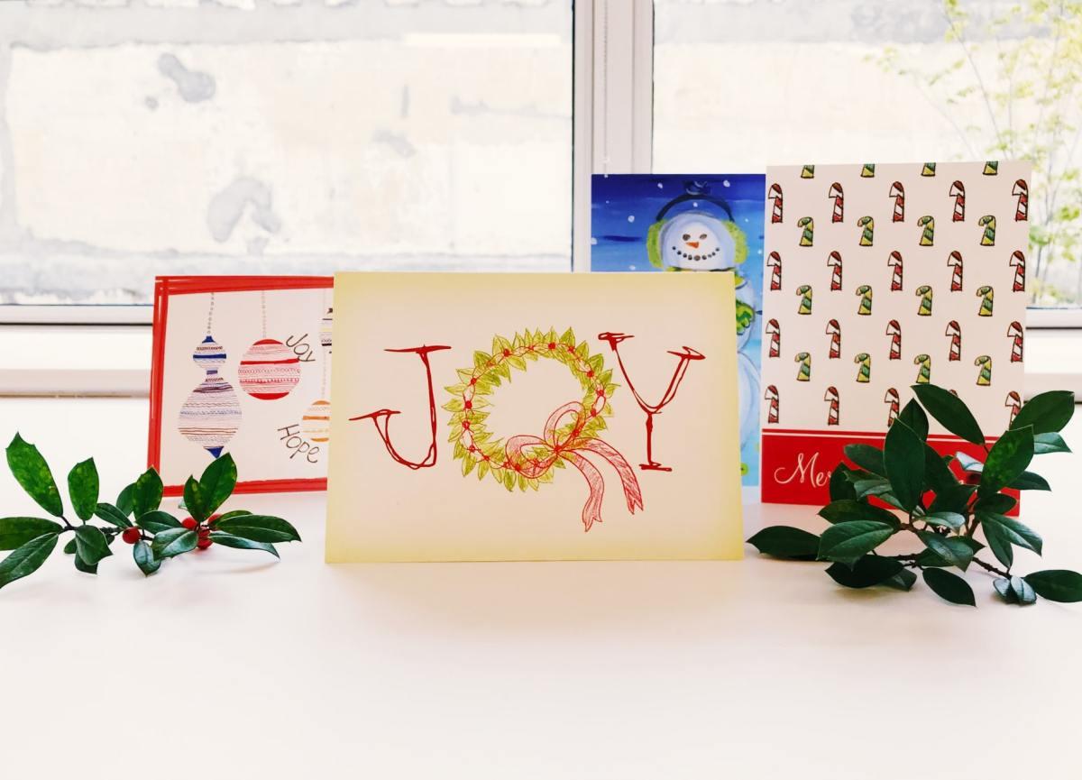 Children's of Alabama patients create artwork for holiday cards sold at CrinkledNose.com