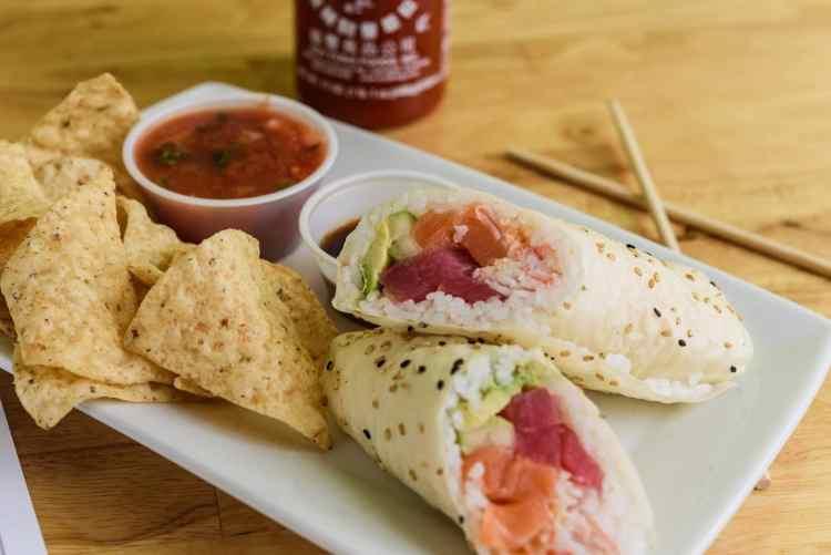 Birmingham, Wasabi Juan's, sushi, rainbow sushi burrito