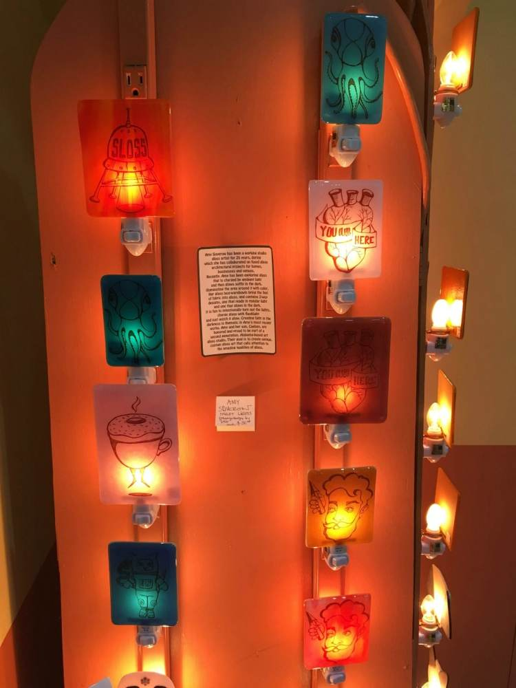 Amy Soverow is a Birmingham maker whose glass art is available at Naked Art, home of many Birmingham makers and their holiday gifts.