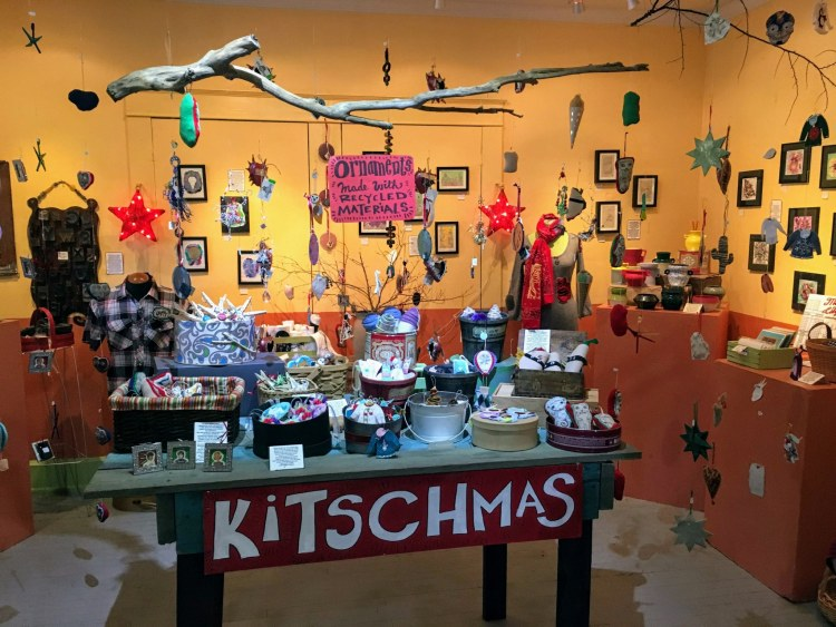 Kitschmas at Naked Art is a weeks-long holiday market for Birmingham makers and the people who like to buy locally made holiday gifts.