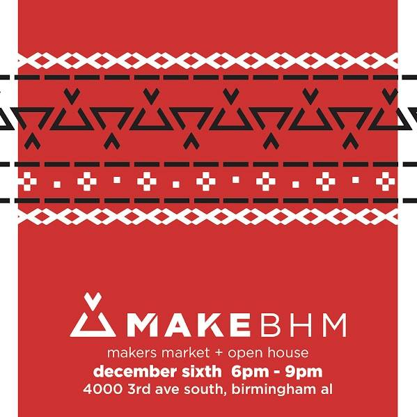 MAKEbhm's makers market is a great place to find Birmingham makers holidays gifts..