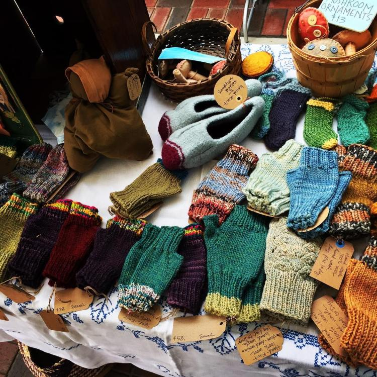 Sarah Langford is a Birmingham fiber artist and knitter extraordinaire. Her handmade good will be available at Alabama Waldorf's holiday faire, a local hot spot for Birmingham makers holiday gifts.
