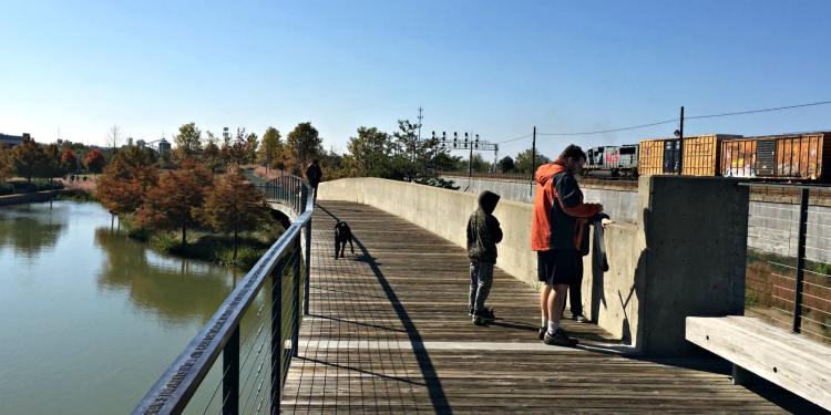 What's open on Christmas Day in Birmingham: Geocaching at Railroad Park