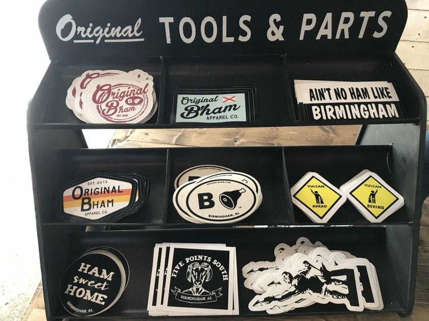 Birmingham, Alabama, Original B'ham Apparel Co. , The Battery, decals